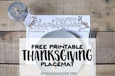Free Printable Thanksgiving Placemat for Kids - Wit & Wander