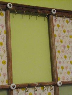 How is it Now Upcycled Window Frame Jewelry Organizer WINDOWS