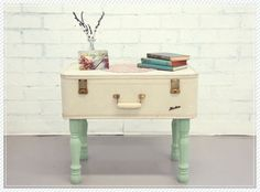 Suitcases, Side tables and Vintage suitcases