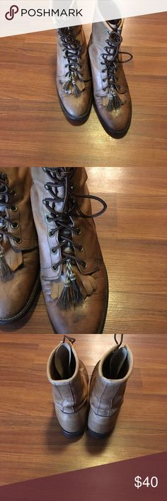 Larry Mahan boots Larry Mahan distressed leather boots. Lots of character. larry mahan Shoes Ankle Boots & Booties