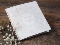 Hochzeitseinladung- vintage Spitze-inkl. Kuvert