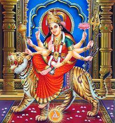 Chandika is an avatar of Durga. The three principle forms of Durga worshipped are Mahagauri, Chandika and Aparajita. Of these, Chandika has two forms called Chandi and Chamunda who is created by the goddess Kaushiki for killing demons Chanda and Munda. Durga Ji, Saraswati Goddess, Kali Goddess, Mother Goddess, Durga Images, Lakshmi Images, Lord Krishna Images, Maa Durga Photo, Maa Durga Image