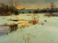 """'Evening Calm', oil/linen, 18"""" x 24"""", by Peter Fiore"""
