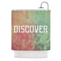 Kess InHouse Rachel Burbee Discover Green Orange Shower Curtain