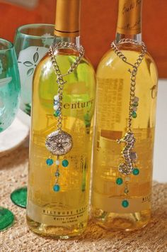 "Metal Wine Bottle Charm 2 Asst, Sounds of the Sea by Evergreen. $20.29. 2 Assorted. Great for yourself or as a gift. 6"" Hanging. Add an elegant panache to your wine bottles with beads the color of the water and charms that look plucked from the ocean's waves. Wrapping around the bottle's slender neck, these silver charms hang like an embrace. The silver seahorse and sand-dollar steal all attention and show off the beauty of the ocean."