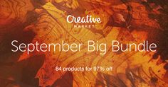 Check out September Big Bundle on Creative Market