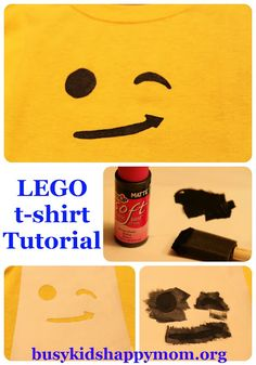LEGO T-shirts with Freezer Paper Stencil - Busy Kids=Happy Mom