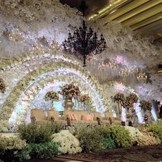 Lighting is a crucial and essential element for any event. Just look at this wedding reception in Jakarta Lotus Design, Wedding Stage Decorations, Sophisticated Wedding, Strictly Weddings, Indoor Wedding, Wedding Wishes, Event Decor, Wedding Designs, Dream Wedding