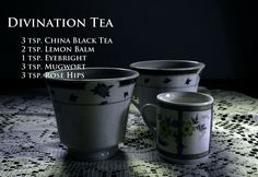 Divination Tea... Witch's Brew Tea Recipes