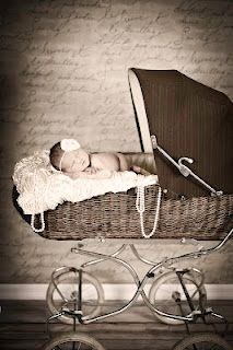 my baby girl's newborn picture.  vintage style