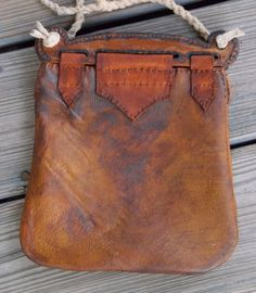 Viking Bag Hedeby Haithabu Handbag of Leather with by misstudy