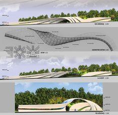 Landscape Gardening DIY, our favorite plans 3236184374 to see. Gate Design, Bridge Design, Entrance Design, Entrance Gates, Main Entrance, Parametric Architecture, Futuristic Architecture, Sustainable Architecture, Landscape Architecture
