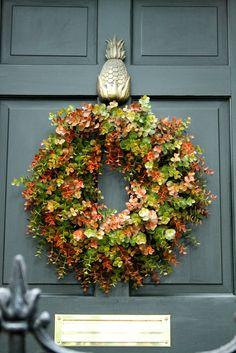 Pretty wreath #ThanksGiving #Home #Decor ༺༺  ❤ ℭƘ ༻༻