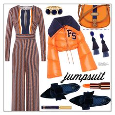 """One and Done: Jumpsuits"" by pat912 ❤ liked on Polyvore featuring Diane Von Furstenberg, Tory Burch, Puma, Davey's, Oscar de la Renta, Teeez, Estée Lauder, jumpsuits and polyvoreeditorial"