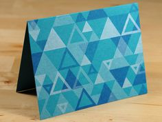 Triangle Pattern Card by Design des Troy