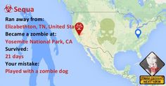 When and where would you die in a Zombie apocalypse?