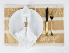 Personalized placemats make any occasion instantly festive! Learn how to create these beauties with just a few simple steps.