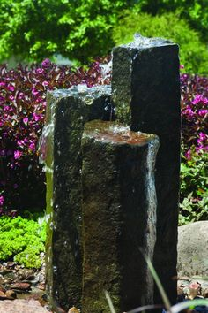 Aquascape Stone Fountain - 3-Pack Natural Mongolian Basalt Columns - EXTRA FREIGHT CHARGES APPLY