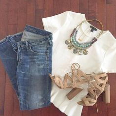 Flatlay: This would be an easy casual outfit to recreate. Look Fashion, Fashion Outfits, Womens Fashion, Dress Fashion, Fashion Maman, Spring Summer Fashion, Spring Outfits, Casual Outfits, Cute Outfits