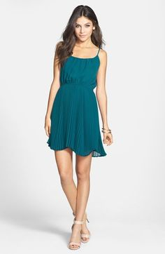 Liberty Love Pleat Skater Dress (Juniors) available at #Nordstrom