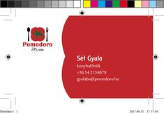Business card design. {Id}