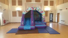 Party bounce and slide bouncy castle avaliable for hire in Northampton. Due it's party theme this is the perfect choice for most party's or events. Size:12ft x 16ft