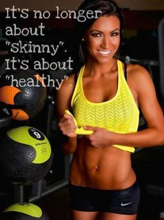 So true! Gosh. Being in nursing I have seen what unhealthy does to you in the long run. Focus on healthy!!! Not skinny. (good news is that healthy does end up being skinnier ;-)
