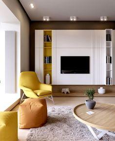Apartment in Kiev by Ukrainian Studio Ruslan Kovalchuk apartment kiev living room 2