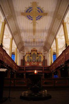 Die Stadtkirche in Zöblitz im Erzgebirge mit Silbermann-Orgel