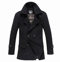 Men's Double Breasted Military stye winter Coat