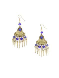 Boucles d'oreilles Shanila http://www.diwali-paris.com/bijoux-boucles-d-oreilles-bleu-metal-ethnique.html
