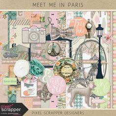 Meet Me in Paris Mini Kit by Pixel Scrapper Designers | Pixel Scrapper digital scrapbooking