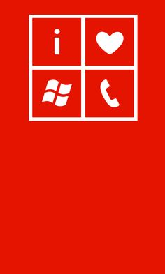 I love #WindowsPhone lock screen wallpaper in red and white.
