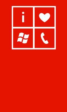 I love #WindowsPhone lock screen wallpaper in red and white.