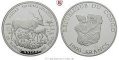 RITTER Congo, 1000 Francs 2006, Mendesantilope, PP #coins