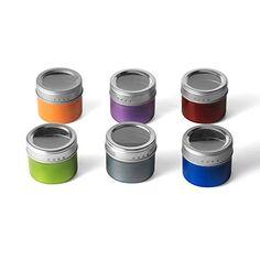 Kamenstein Colored Magnetic Storage Tins Sets 2 Sets 12 TINS >>> BEST VALUE BUY on Amazon #KitchenStorage
