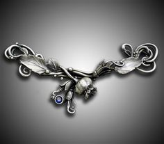 such exquisite detail, in metal clay! Nature's Renewal II by Holly Gage on Jewelry Making Daily