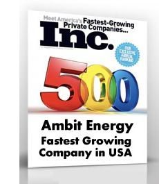 "Researching Ambit Energy and similar business opportunities should include a look at the Inc500 listings for the last 5 years.  Ambit's growth track is nothing short of impressive including 1 year at number 1 position and multiple consecutive years listed in the Inc 500 and Inc5000 (eventually a company's size is too large to have sustained ""meteoric"" growth...but hey, we are now in 13 states and DC...still plenty of room for growth..."
