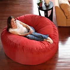 Comfort Cloud Bean Bag Chair Size: 5', Color: Red - http://delanico.com/bean-bag-chairs/comfort-cloud-bean-bag-chair-size-5-color-red-522848113/