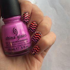 Ombre Chevron Nails