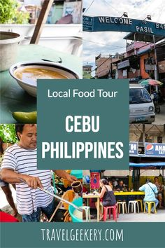 Cebu in the Philippines may be famous for its roasted pig called lechón but there are many other delicious and authentic street food options. Visit a typical local street food market and enjoy Filipino food that cannot be found elsewhere. #streetfood #foodie #philippines #cebu #travelgeekery Street Food Market, Best Street Food, Philippines Cebu, Philippines Travel, Travel Advice, Travel Guides, California Food, Cebu City, Filipino Food
