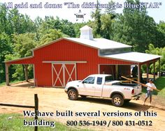 Metal Barns Direct home of some of the best metal barns, steel barns and metal pole barns in the industry. Free installation on your level land. Normal delivery time is weeks in most areas. Metal Horse Barns, Metal Barn, Metal Building Kits, Metal Building Homes, Shop Buildings, Steel Buildings, Pole Buildings, Barn House Plans, Barn Plans