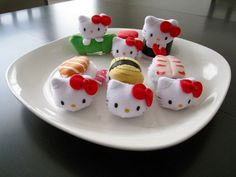 Sushi Photo: This Photo was uploaded by TheCindyEffect. Find other Sushi pictures and photos or upload your own with Photobucket free image and video ho. Sushi Plush, Sushi Pictures, Sushi Love, Hello Kitty Plush, Kawaii Crafts, Hello Kitty Collection, Sushi Rolls, Sanrio, Cool Stuff