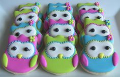 One Dozen Owl Decorated Sugar Cookies by DolceDesserts on Etsy