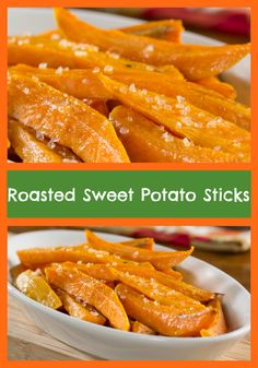 Stay healthy during snack time with our recipe for Roasted Sweet Potato Sticks. They're low in calories, fat, and carbs, so you can indulge in this baked snack when you feel the cravings kicking in. We think you'll love their lightly sweetened taste, too!