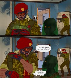 Rainbow Six Siege Art, Rainbow 6 Seige, Rainbow Six Siege Memes, Tom Clancy's Rainbow Six, Taste The Rainbow, Video Games Funny, Funny Games, Rambo 6, Got Game