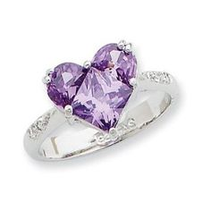 Say 'I Love You' with a Heart shaped Amethyst Ring. Purple Love, All Things Purple, Shades Of Purple, Deep Purple, Purple Stuff, Purple Hearts, Jewelry Shop, Jewelry Art, Jewelry Accessories