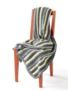 The Afghan Striped - Free Crochet Pattern - Lion Brand Yarn