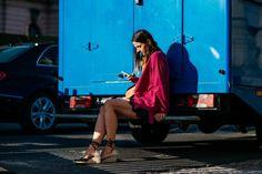 #pink #coats #streetstyle