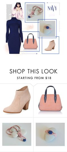 """""""NAVY & PINK"""" by styledonna on Polyvore featuring moda, Maiden Lane, Delpozo, Rumour London i COVERGIRL"""